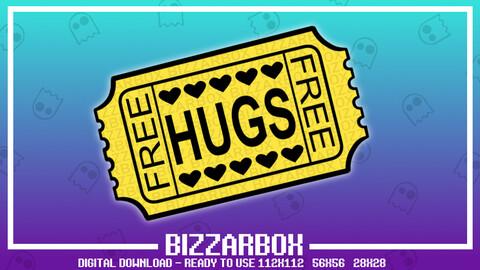 Twitch Emote: Free Hugs Ticket