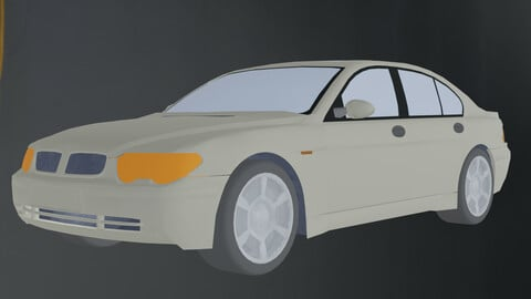 low poly CAR FREE low-poly 3d model game ready Free low-poly 3D model