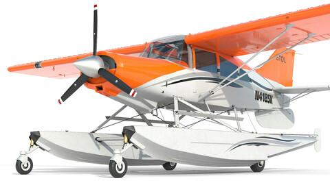 Light Airplane Maule hydroplane interior