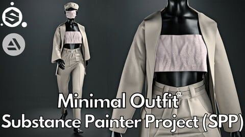 Substance Painter (.SPP) : Minimal outfit