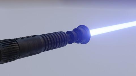 Obi Wan Kenobi`s Light Siber Low-Poly Model