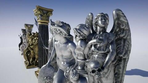 Ancient Statues UE4 FBX 3DS