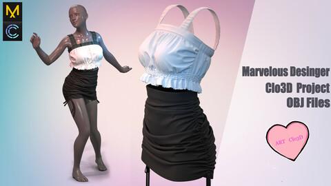 Wonderful outfit / .Marvelous Desinger/Clo3D Project+OBJ File