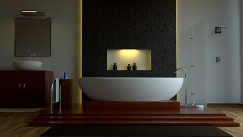 Modern Bathroom Scene