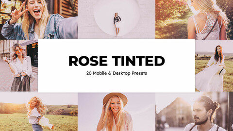 20 Rose Tinted LUTs and Lightroom Presets