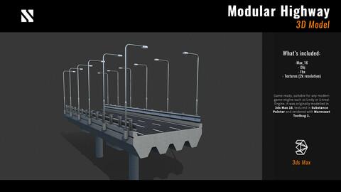 Modular Highway   LowPoly model