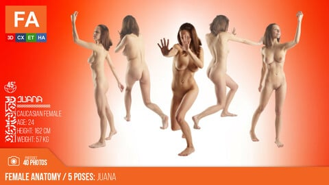 Female Anatomy | Juana 5 Various Poses | 40 Photos