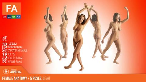 Female Anatomy | Leah 5 Various Poses | 40 Photos