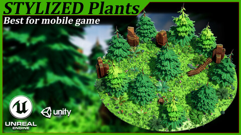 plant_low poly_tree_stylized plant_mobile game