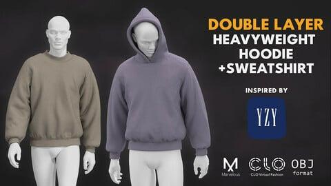 Heavyweight hoodie v2.0 (like yzy x gap). Marvelous / Clo 3D / zprj obj