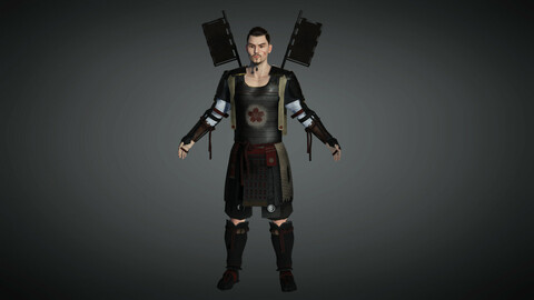 Fantasy Male Character 09 ( The Japanese Warrior )