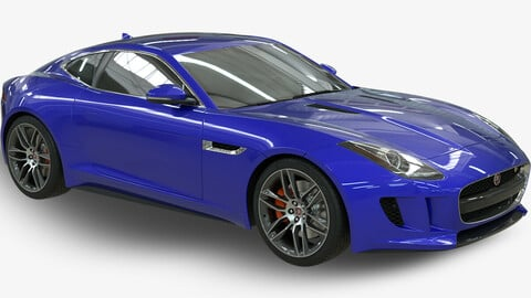 Realistic Car Jaguar TypeF with Interior Rigged PBR Vehicle VR / AR / low-poly 3d model