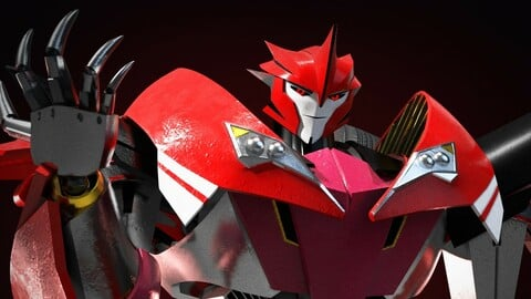 Knockout Transformers Prime 3D Character Rig