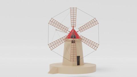 Cartoon Italian Sicilian Windmill