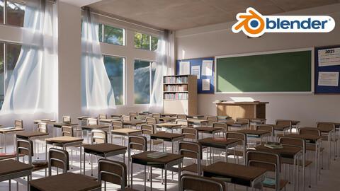 3D Classroom Environment Creation in BLENDER