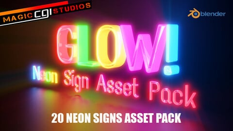 Glow! Neon Sign Asset Pack