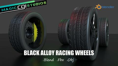 Black Alloy Racing Wheels