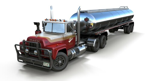 Industrial fuel trailer truck