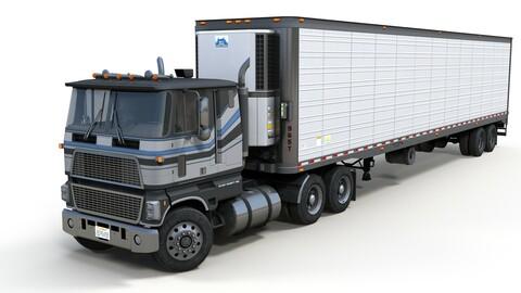 Industrial cabover refrigerated van trailer