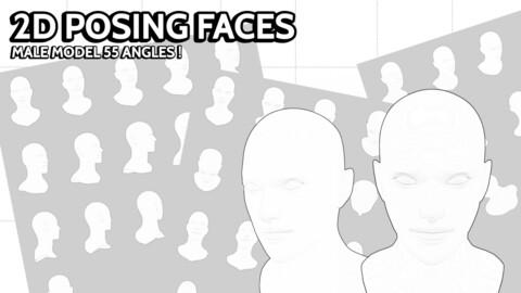 2D POSING FACES #2