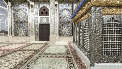 islamic and historic mosque interior model