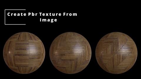 Wood Parquet Generator  and ( 10 pcs PBR  Wood Parquet Texture )