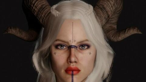 Viking Face Model