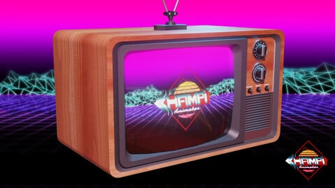 Detailed 80s TV