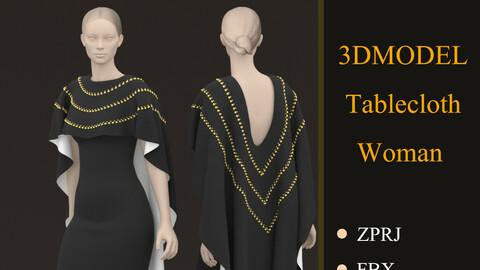 Woman TableCloth Marvelous Designer & CLO3d