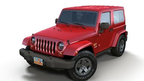 Jeep Wrangler 2010 Low-poly