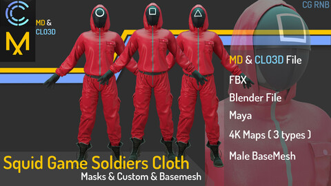 Squid Game Soldiers Cloth