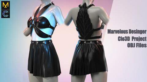Outfit flower / Marvelous Desinger/Clo3D Project+OBJ File