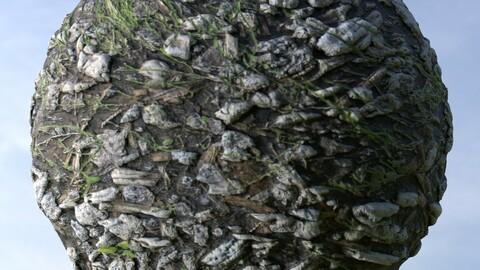 Fallen Tree Bark 1 PBR Material