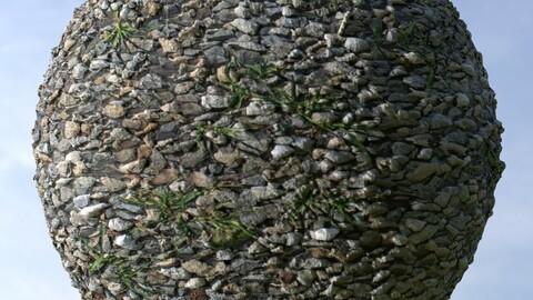 Gravel Grass 13 PBR Material