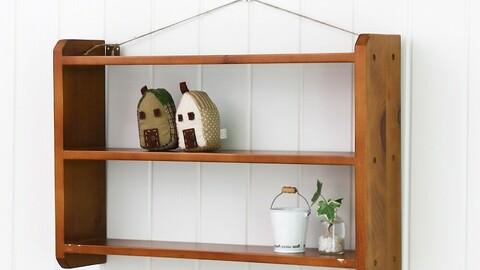 Rubber Wood Multi-purpose 3-tier Shelf Organizer