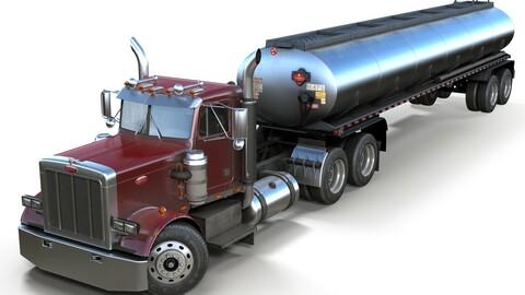 Peterbilt 359 fuel trailer