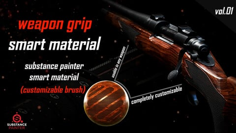 Weapon Grip Smart Material_Substance Painter _Vol01