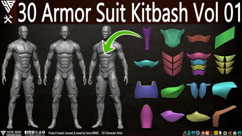 30 Armor Suit Kitbash Vol 01