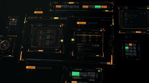 FUI / UI - Vector set of sci-fi windows and blocks