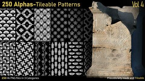 250 Alphas-Tileable Patterns-Vol4