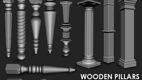 Wooden Pillars IMM Brush Pack (10 in One)