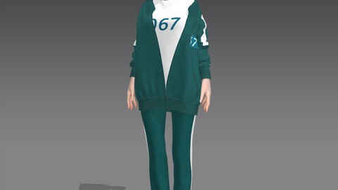 Squid Game Player Outfit In Marvelous Designer 067