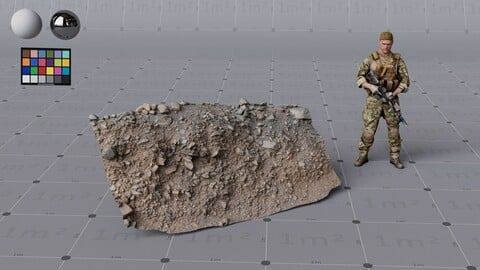 Rocky embankment scanned assets, high quality, 4K textures, UDIMs