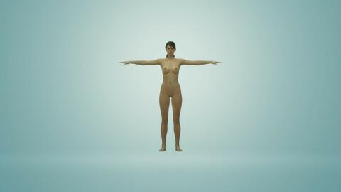 3D model in FBX format - Naked Girl - for 3D work