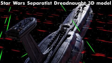 Star Wars Separatist Dreadnaught 3D model