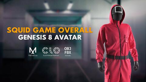 Squid game overall. Marvelous / Clo 3D / Gen. 8 / zprj obj fbx