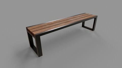 PBR Locker Room Seat Bench 01