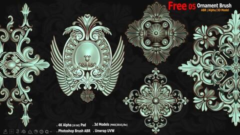 05 Free_Ornament ABR/Alpha/3D Model