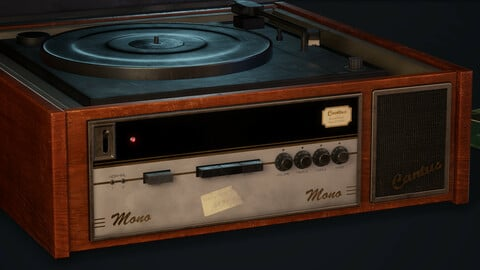Old Turntable / Record Player - PBR Model