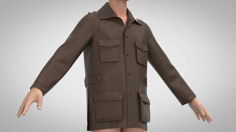 Waxed Jacket, Clo3D, Marvelous Designer +.obj